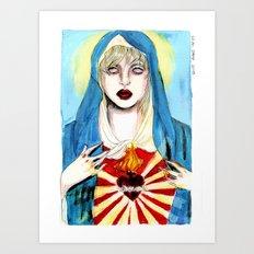 Goddess courtney love Art Print