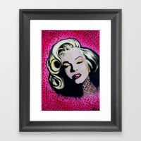 Cheetah Marilyn Monroe acrylic portrait print  Framed Art Print