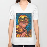fear and loathing V-neck T-shirts featuring Fear and Loathing  by Katrina Berkenbosch