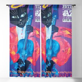 1994 Montreal Jazz Festival Cool Cat Poster No. 1 Gig Advertisement Blackout Curtain