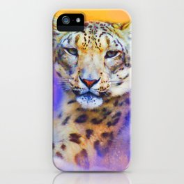 Colorful Expressions Snow Leopard iPhone Case