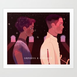 orpheus and eurydice Art Print