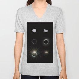 Solar Eclipse 2017 3 Unisex V-Neck