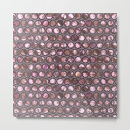 Pink Shiny Pearl Pattern Metal Print