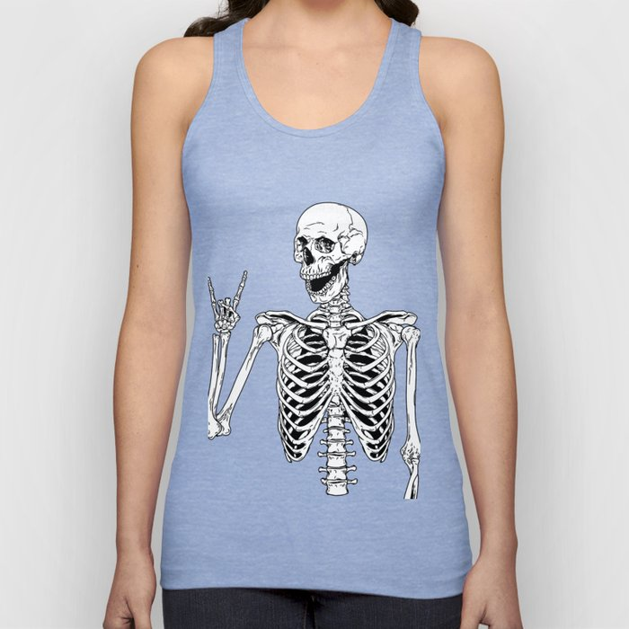 Rock and Roll Skeleton Unisex Tank Top
