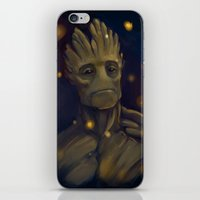 groot iPhone & iPod Skins featuring Groot by Ka-ren