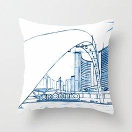 BluePrints | City Hall - Toronto Throw Pillow