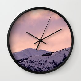 Kenai Mts Bathed in Serenity Rose Wall Clock