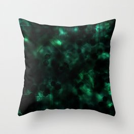 Digital Forest Cool Variant Throw Pillow