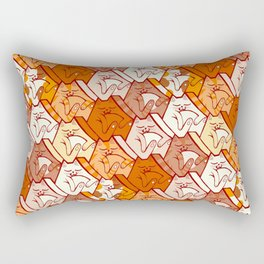 Sleepy kitten pattern Rectangular Pillow