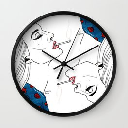 life is a cigarette  Wall Clock
