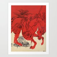 catcher in the rye Art Prints featuring Catcher by Julia Lopez