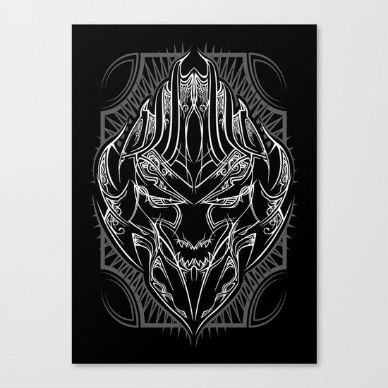 Pinstripe Megatron Canvas Print