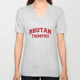 Thimphu Bhutan City Souvenir Unisex V-Neck