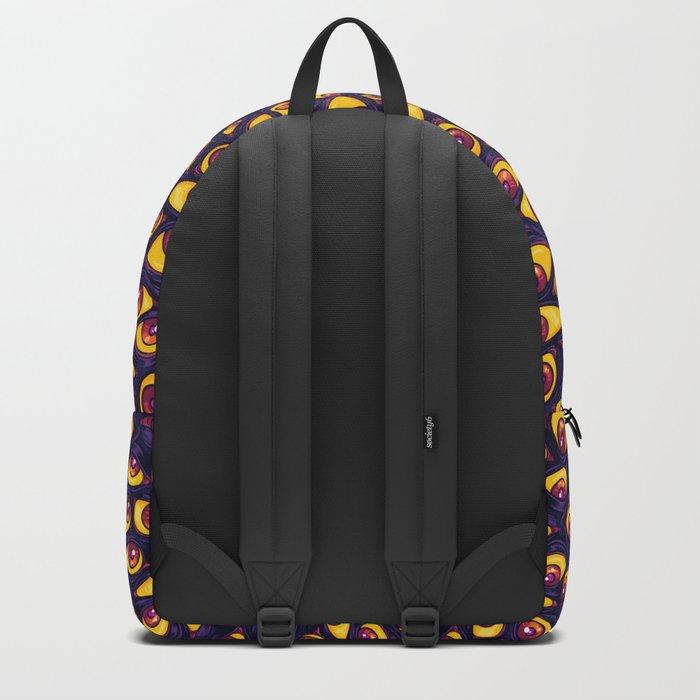 Wall of Eyes in Dark Purple Backpack