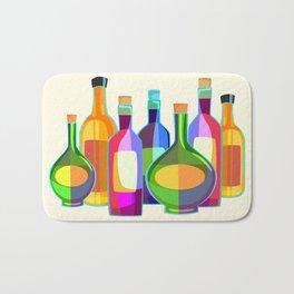 Colored Glass Bottles Bath Mat