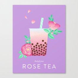 Bobalicious Rose Tea Canvas Print