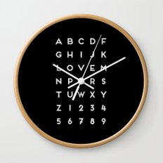 Letter Love - Black Wall Clock