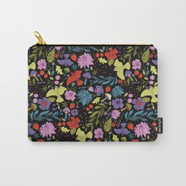 Mountain Woman Pattern in Black Carry-All Pouch