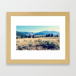The High Plains of Lamar Valley: Yellowstone National Park Framed Art Print