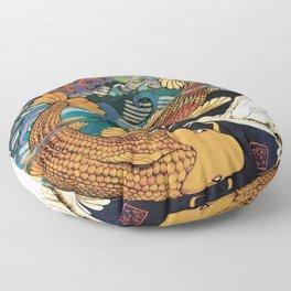Koi & Egret Floor Pillow