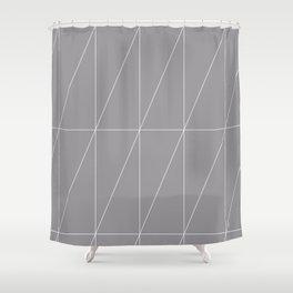 Grey Triangles by Friztin Shower Curtain