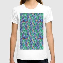 Crystal Shards in Oil Slick Rainbow Aura T-shirt