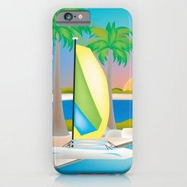 Key West, Florida - Skyline Illustration by Loose Petals iPhone Case
