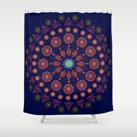 nordic Shower Curtains featuring Nordic Star by RED ROAD STUDIO