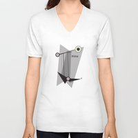 kandinsky V-neck T-shirts featuring Black Is by Amy Newhouse