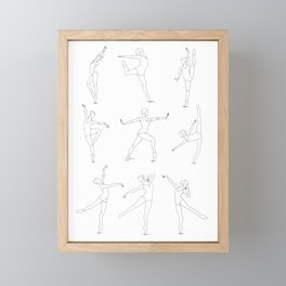 Strong Female Dancer Collection  Framed Mini Art Print