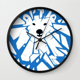 Save the Arctic Polar Bear and Melting Ice Caps Wall Clock