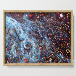Painted Large Magellanic Cloud Serving Tray