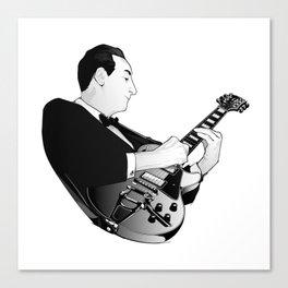 LES PAUL House of Sound - WHITE GUITAR Canvas Print