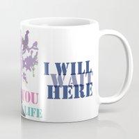 oscar wilde Mugs featuring Oscar Wilde #3 I will wait here by bravo la fourmi