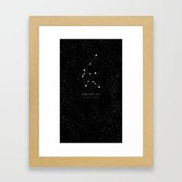 Aquarius Zodiac Constellation Framed Art Print