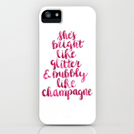 Bright and Bubbly Glitter and Champagne iPhone Case