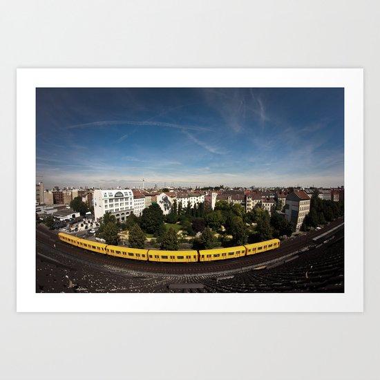 Berlin Subway U1 Art Print