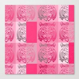 Tiger pink Canvas Print