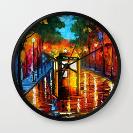 TARDIS PAINTING Wall Clock