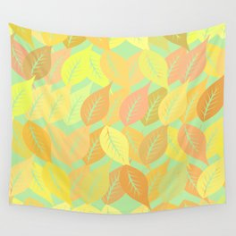 Autumn leaves pattern Wall Tapestry