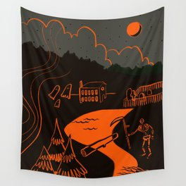 Time for Halloween Spooks Wall Tapestry