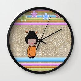 kokeshi dragonflies Wall Clock