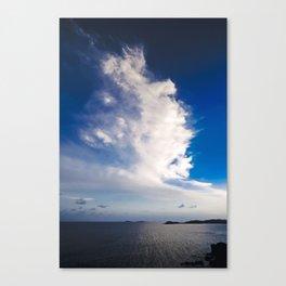 Cloud formation above Caribbean Sea Canvas Print