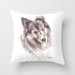Shetland Sheepdog Throw Pillow
