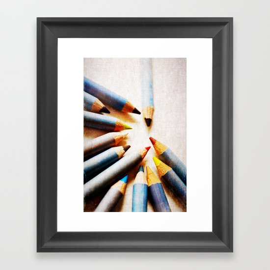 Pencils Framed Art Print