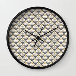 Deco flower pattern Wall Clock