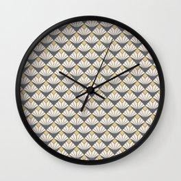 Deco flower pattern Wall Clock