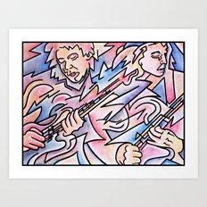 Guitar Duel Art Print