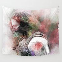winter soldier Wall Tapestries featuring Winter Soldier by NKlein Design